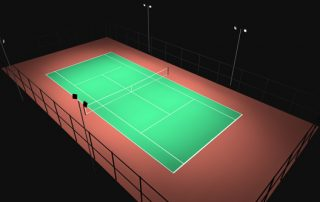 how much do tennis court lights cost