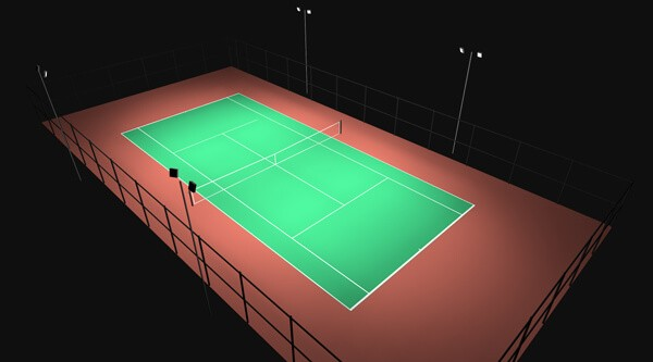 tennis court light